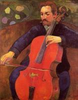 Paul Gauguin - Виолончелист (Портрет Фрица Шеклюда)