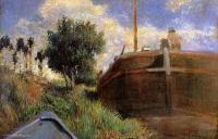 Гоген Поль ( Paul Gauguin ) - Голубая баржа