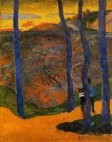 Paul Gauguin - Голубые деревья