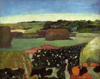 Paul Gauguin - Стог сена в Британи (Картофельное поле)