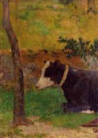 Гоген Поль ( Paul Gauguin ) - Лежащая корова