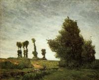 Гоген Поль ( Paul Gauguin ) - Пейзаж с тополями