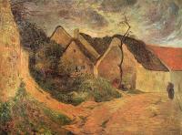 Paul Gauguin - Деревенская улица, Осни
