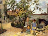 Гоген Поль ( Paul Gauguin ) - Семейство в саду