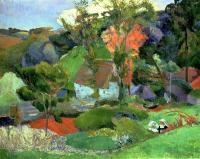 Гоген Поль ( Paul Gauguin ) - Эвен бегущий через Порт-Эвен