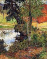 Paul Gauguin - Красная крыша у воды