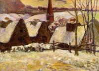 Paul Gauguin - Заснеженная бретонская деревня