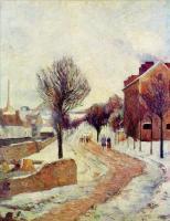 Paul Gauguin - Пригород в снегу