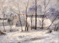 Paul Gauguin - Зимний пейзаж, последствие снегопада (Снег в Вогирарде)