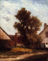 Гоген Поль ( Paul Gauguin ) - Дерево во дворе фермы