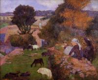 Paul Gauguin - Бретонка - пастушка овец
