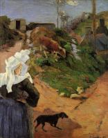 Paul Gauguin - Бретонские женщины в полоборота