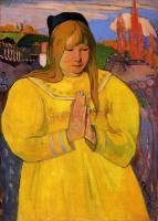Гоген Поль ( Paul Gauguin ) - Бретонская женщина за молитвой