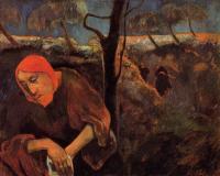 Гоген Поль ( Paul Gauguin ) - Христос в оливковом саду