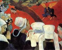 Гоген Поль ( Paul Gauguin ) - Видение после проповеди (Борьба Иакова с ангелом)