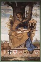 Фрески, монументальная живопись, роспись стен - Настенная роспись из старого Штеделевского института, правая часть, Аллегорическая фигура Германии