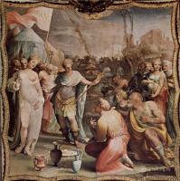Фрески, монументальная живопись, роспись стен - Умеренность Сципиона