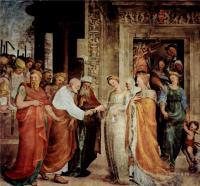 Фрески, монументальная живопись, роспись стен - Обручение Марии с Иосифом