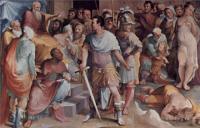 Фрески, монументальная живопись, роспись стен - Политические добродетели. Убийство Лжемелиуса