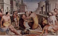 Фрески, монументальная живопись, роспись стен - Политические добродетели.  Примирение Эмилия Лейда и Флавия Флакка