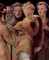 Фрески, монументальная живопись, роспись стен - Политические добродетели.Постумий Тибурций убивает своего сына (фрагмент)
