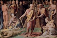 Фрески, монументальная живопись, роспись стен - Политические добродетели.Постумий Тибурций убивает своего сына