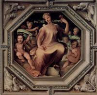 Фрески, монументальная живопись, роспись стен - Политические добродетели. Милосердие (Caritas)