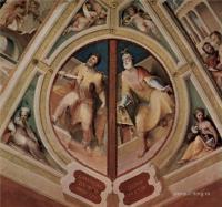Фрески, монументальная живопись, роспись стен - Политические добродетели. Карунд Тирский и Целий Претор