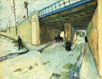 Van Gogh - Железнодорожный мост над улицей Монмажор
