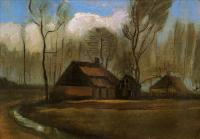 Van Gogh - Фермы между деревьев