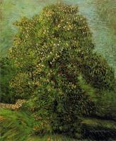 Каштан в цвету  [ картина - пейзаж ] :: Ван Гог, описание картины