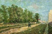Van Gogh - Мужчина с лопатой на окраине Парижа