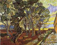 Сад при приюте в Сан-Реми [ картина - пейзаж ] :: Ван Гог, описание картины