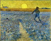 Сеятель (Сеятель на закате) [ картина - пейзаж ] :: Ван Гог, описание картины