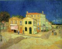 Улица, жёлтый дом, городской пейзаж :: Ван Гог, описание картины