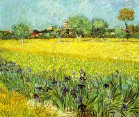 Van Gogh - Виды Арли с ирисами