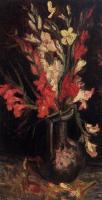 Van Gogh - Ваза с красными гладиолусами