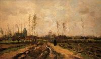 Van Gogh - Пейзаж с церковью и фермами