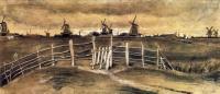 Van Gogh - Ветряные мельницы в Дордрехте