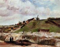 Van Gogh - Монмартр - каменоломня и мельницы