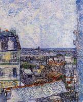 Van Gogh - Вид на Париж из комнаты Винсента с улицы Лепик