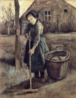 Van Gogh - Девочка с граблями