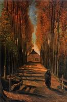 Van Gogh - Улица с тополями на закате