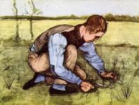 Van Gogh - Мальчик, обрезающий траву серпом