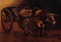 Van Gogh - Телега с красно-белым быком