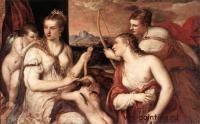 галерея Боргезе - Тициан, Воспитание Амура